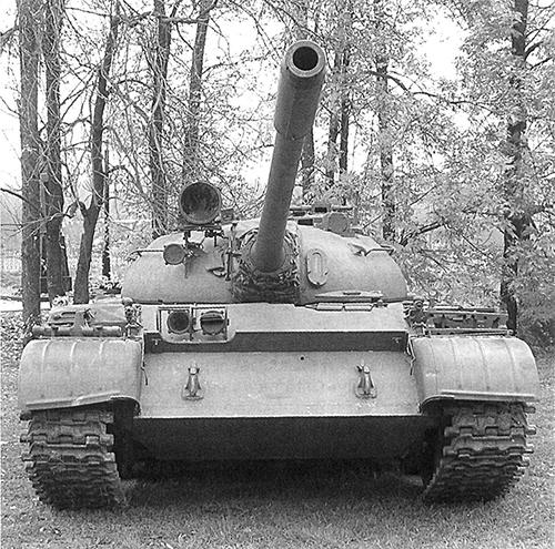 ТанкТ-55. Вид спереди