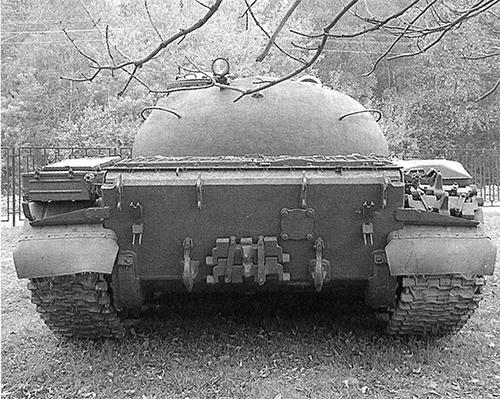 Танк Т-55. Вид сзади