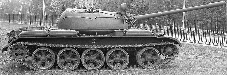 Танк Т-55. Вид на правый борт.