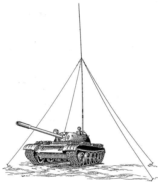 Танк Т-55АК.  Боевая масса - 37,5 т; экипаж - 4 чел.; оружие: пушка - 100 мм,  1 пулемет - 7,62 мм; броня - противоснарядная; мощность дизеля - 426 кВт (580 л.с.); максимальная скорость - 50 км/ч.