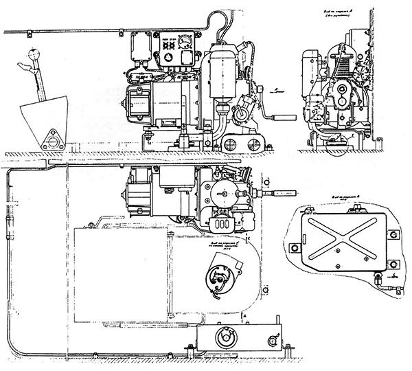 Установка энергоагрегата АБ-1-П/30 в танке Т-55К.