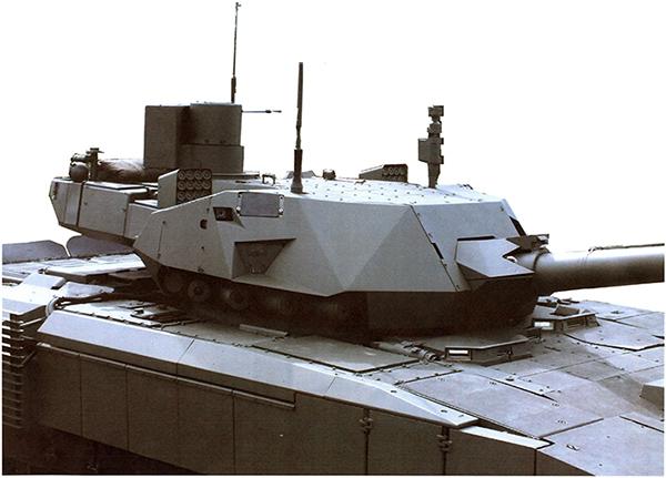 Для снижения заметности танка на башне устанавливается легкий кожух с геометрическими характеристиками оптимальными для снижения заметности в РЛ диапазоне длин волн
