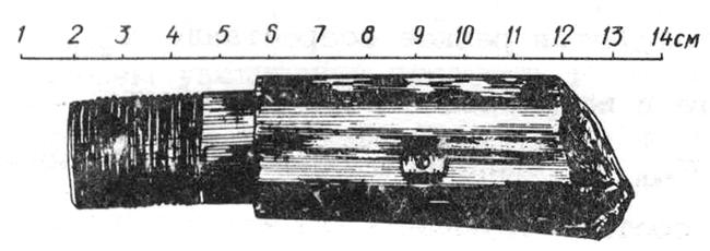 Рис. 3. Корпус снаряда после пробития первого и второго слоя трехслойной преграды