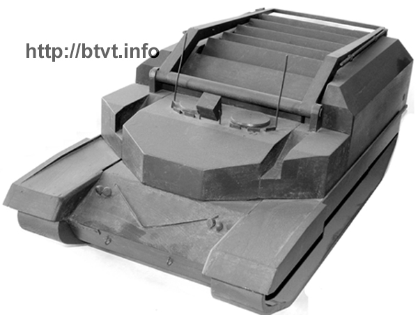 Wooden model of the tank Object â490â and a reloading and supply vehicle on itâs chassis designed by E. A. Morozov, 1:10. Soviet 80s Future tank projects. Object â490â, Object â490Aâ (Rebel), â490Aâ with 152 mm gun (Boxer).
