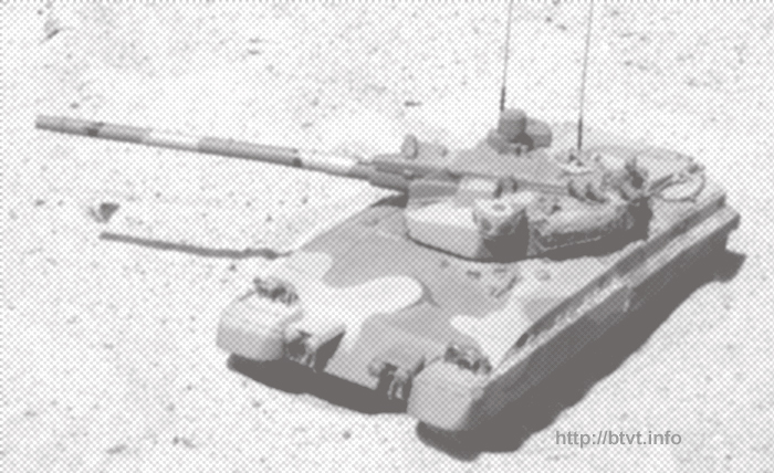 A variant of the Object â490Aâ Boxer tank with 152 mm gun and future âStandartâ APS